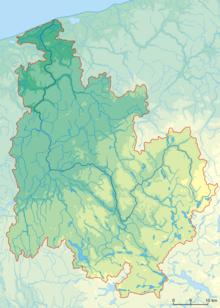 Mapka hipsometryczna dorzecza Regi