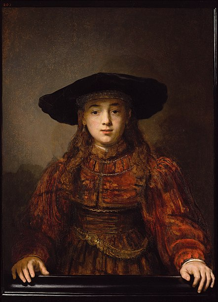 File:Rembrandt Girl in a Picture Frame.jpg