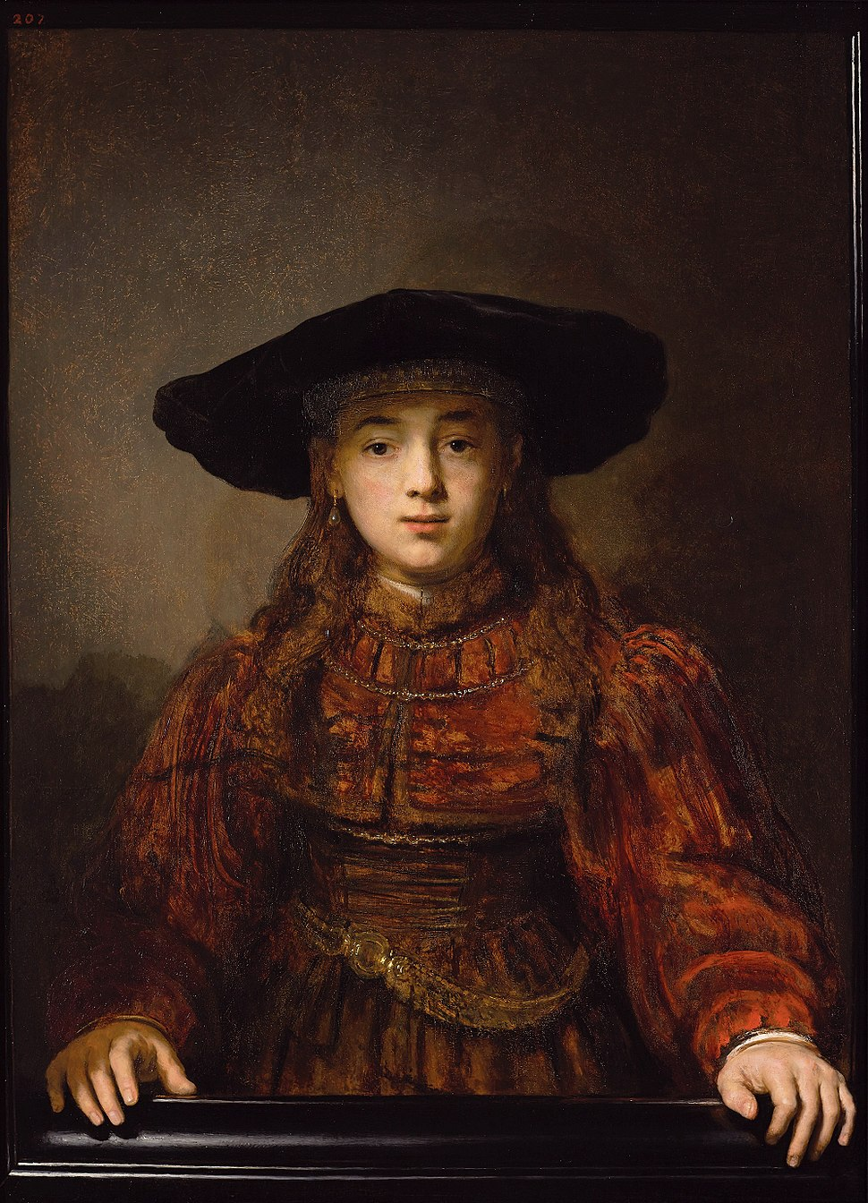 Rembrandt Girl in a Picture Frame