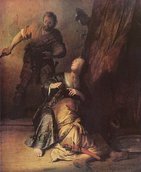 Rembrandt: Samson betrayed by Delilah