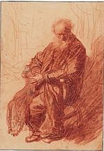 Rembrandt Old Man with Clasped Hands, Seated in an Armchair.jpg