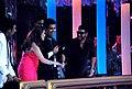 Remo DSouza, Madhuri Dixit, Karan Johar, Abhishek Bachchan, Ajay Devgn on the sets of 'Jhalak Dikhhlaa Jaa 5'(6).jpg