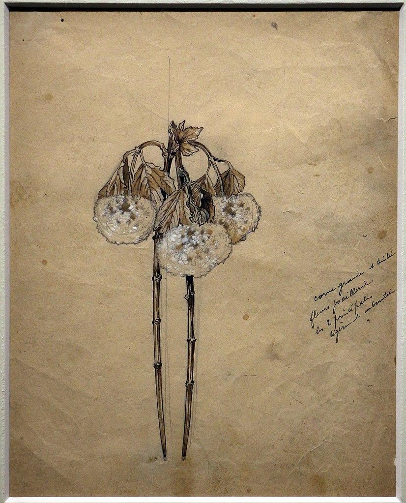 Dessin de la collection Lalique au musée Calouste Gulbenkian à Lisbonne. Photo de Sailko