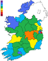 Results of the June 2008 referendum on the Twenty-eighth Amendment of the Constitution of Ireland - choropleth.png