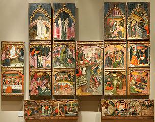 Altarpiece with biblical scenes