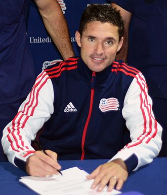 Jay Heaps - Image: Revolution's coach Jay Heaps signs a document of support with the U.S. Coast Guard