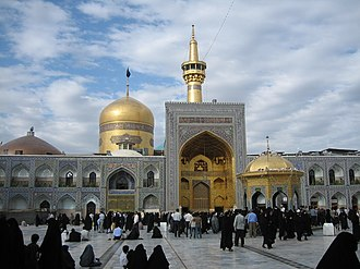 Islam in Asia - The Imam Reza shrine in Mashhad, Iran is the second-largest mosque in the world