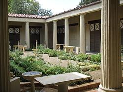 Ricostruzione del giardino della casa dei vetii di pompei (mostra al giardino di boboli, 2007) 02.JPG