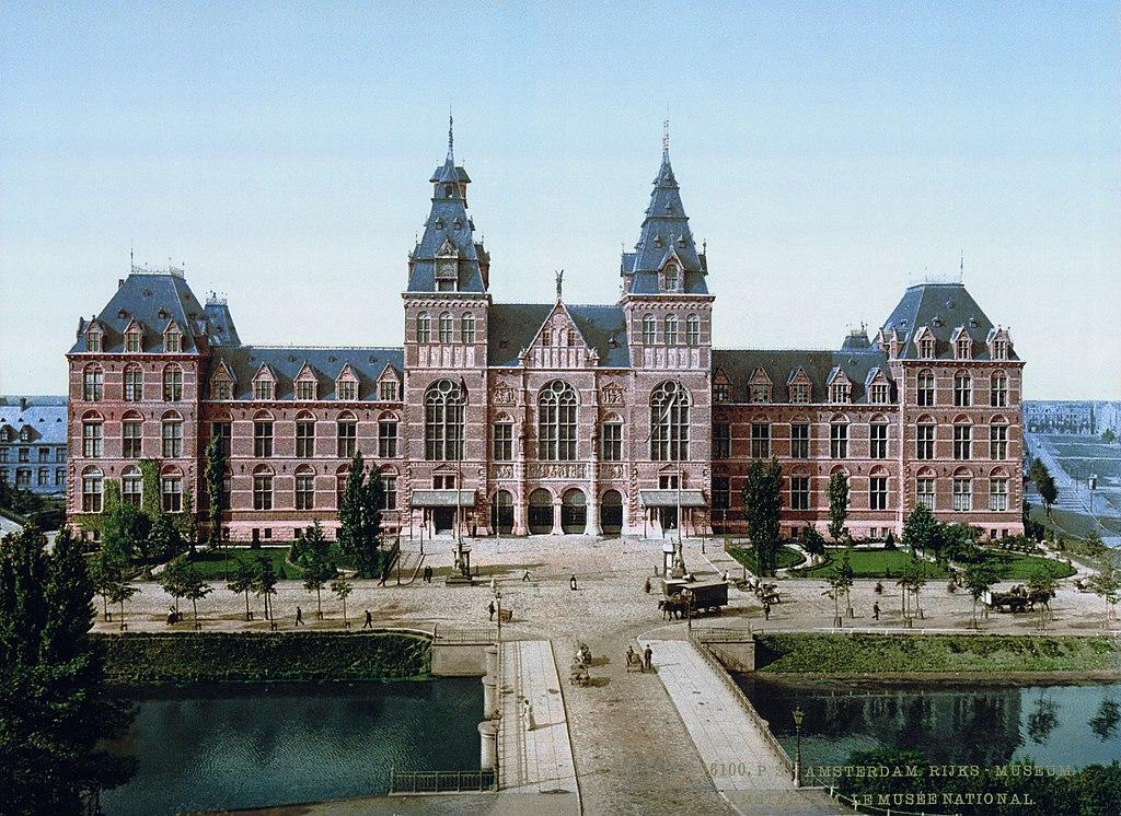 Rijksmuseum d'Amsterdam, le musée monumentale d'Amsterdam en 1900.