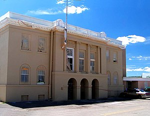 Tierra Amarilla, New Mexico - Rio Arriba County Courthouse, Isaac Rapp, architect, 1916-17