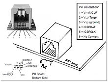 In System programming Microchip ICSP on wiring diagram rj45 socket