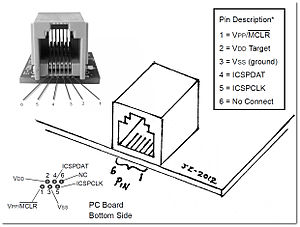 In-system programming - RJ11 to ICSP PIC programmer