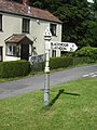 Road sign and house, near Blackmoor - geograph.org.uk - 448952.jpg