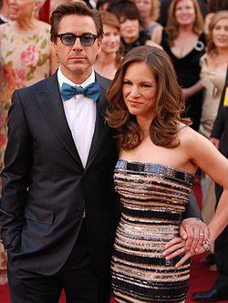 דאוני ואשתו סוזן לוין בטקס פרסי האוסקר, 2010.