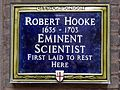 Robert Hooke 1635 - 1703 Eminent Early Scientist first laid to rest here.jpg
