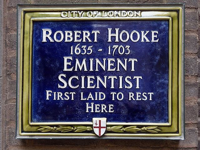 Photo of Robert Hooke blue plaque
