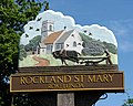 Rockland St Mary - village sign (close-up) - geograph.org.uk - 1330200.jpg