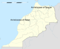 Roman Catholic dioceses of Morocco map.png