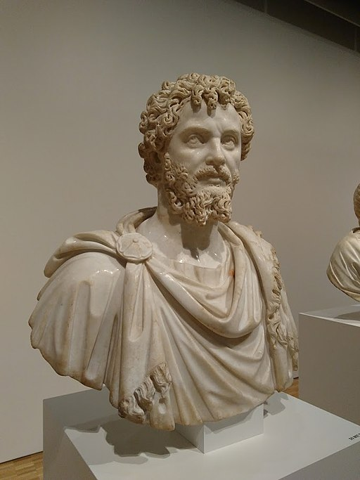 Roman marble bust of Septimius Severus, Eskenazi Museum of Art