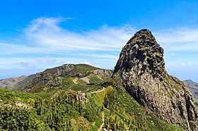 Roque de Agando in the Garajonay National Park on La Gomera, Spain (48293689331).jpg