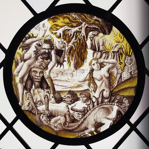 Roundel with Descent of the Damned