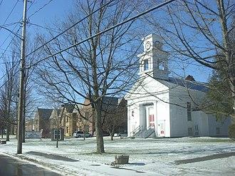 Roxbury, New York - Roxbury Central School and Methodist Church