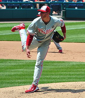Roy Halladay - Halladay pitching for the Phillies