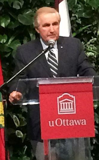 Roy Romanow - Image: Roy Romanow University of Ottawa 2