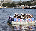 Royal Raft - Homage to Her Maj on River Thames in London.jpg