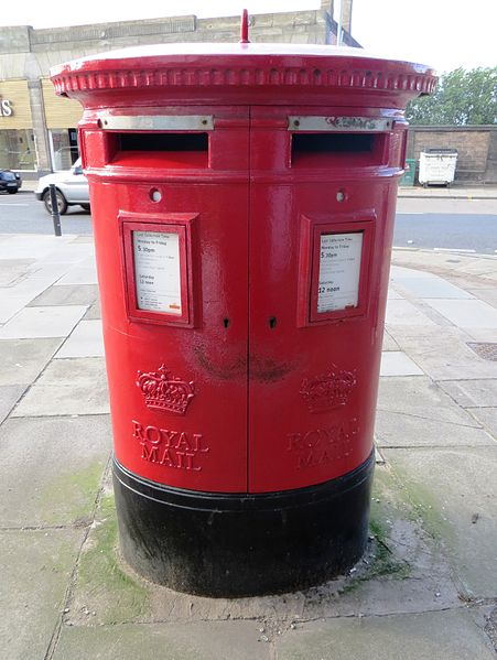 File:Royal mail post box in Edinburgh.JPG