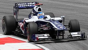 Williams FW32 - Image: Rubens Barrichello 2010 Malaysia 3rd Free Practice