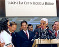 Rubio and Crist celebrate large tax cut with other legislative leaders.jpg