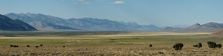 Ruby Valley in northeast Nevada, looking north from a point near Overland Pass