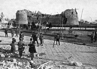 1915 Avezzano earthquake - Ruins of Castle Orsini, Avezzano