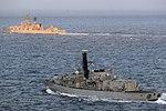 Russian cruiser Marshal Ustinov and HMS St Albans MOD 45165083.jpg