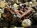 Rusting engine block on the beach, Chapman's Pool - geograph.org.uk - 939479.jpg