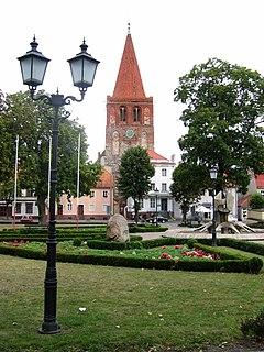 Myślibórz Place in West Pomeranian, Poland