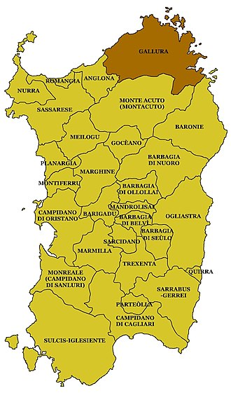 Gallura - map of Gallura