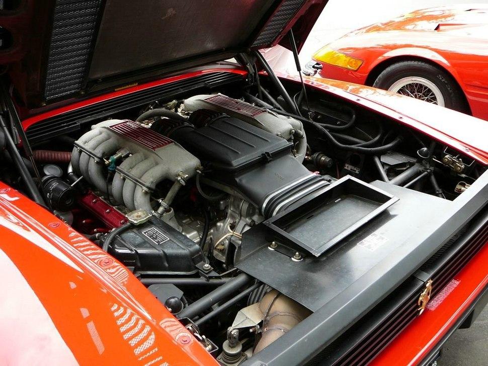 SC06 1991 Ferrari Testarossa engine