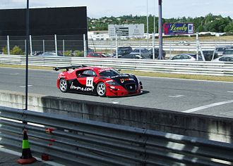 SEAT Cupra GT - The SEAT Cupra GT in a qualifying session for the GTA category of the Spanish GT championship, driven by Ginés Vivancos and Joan Vinyes (Sun RED).