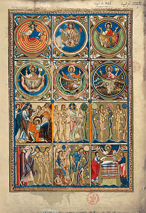 Great Canterbury Psalter - The Great Canterbury Psalter, f. 1r
