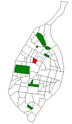 Lewis Place, St. Louis - Image: STL Neighborhood Map 54