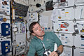 STS-133 Michael Barratt watches a water bubble.jpg
