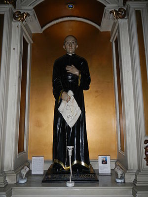 Arnold Janssen - A statue of Arnold Janssen at Sacred Heart Parish Kamuning, Quezon City, Philippines.