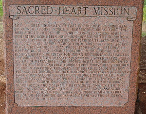 Sacred Heart, Oklahoma - Sacred Heart Mission Historical Marker