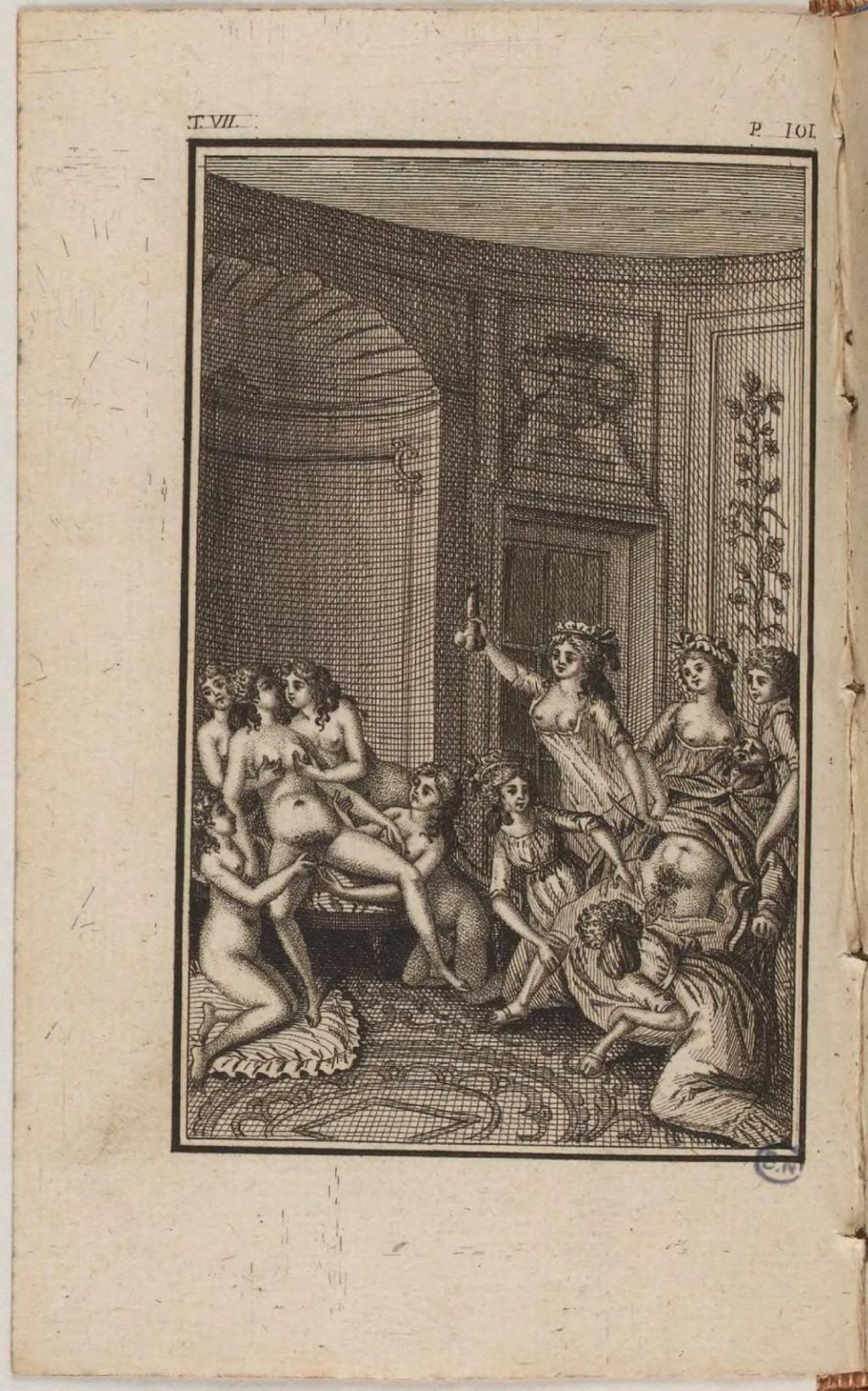 Justine de sade and adrianna laurenti threesome in au bonheur des femmes