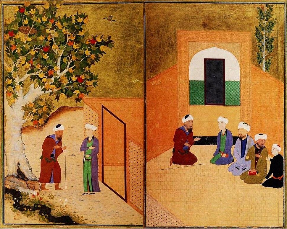 Sadi and the youth of kashgar Bukhara 1547.JPG