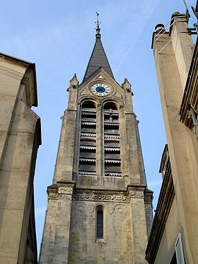 Clocher-tour de l'église Saint-Leu-Saint-Gilles.