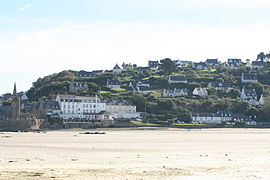 A view of the village from the beach