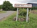 Saint-Paul-aux-Bois (Aisne) city limit sign.JPG